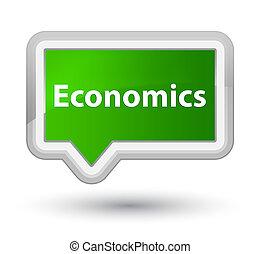 Economics prime green banner button