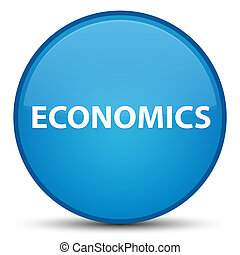 Economics special cyan blue round button