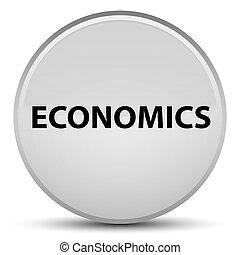 Economics special white round button