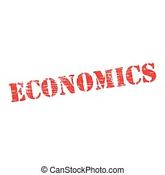 Economics Stencil - Economics grungy stencilled word symbol