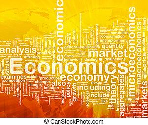 economie, achtergrond, concept