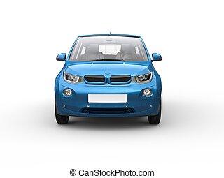 econominc, 小さい, 青い車