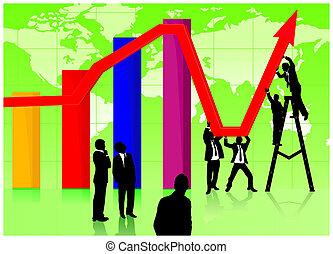 economisch, jointly, werkende , herstel