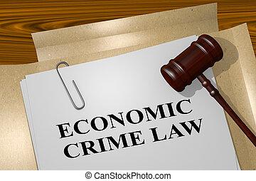 economisch, misdaad, wet, -, wettelijk, concept