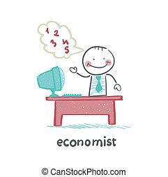 economist  sitting at work