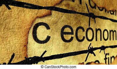 Economy against barbwire