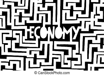 Economy as a complex maze or problem