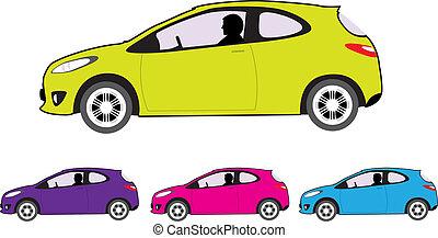 Economy car - economy car vector illustration clip-art...