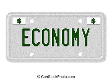 Economy Car  License Plate