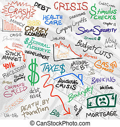 Economy Doodles - Recession economy and finance related...