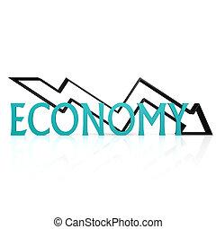 Economy down arrow