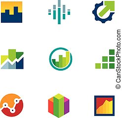 Economy finance chart bar business productivity logo icon ...