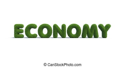 economy green grass in the form of letters