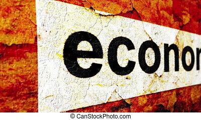 Economy grunge concept