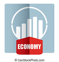 Economy - illustration with graph for business template
