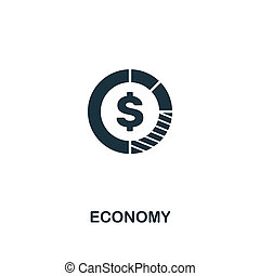 Economy icon. Premium style design from business management icon collection. Pixel perfect Economy icon for web design, apps, software, print usage