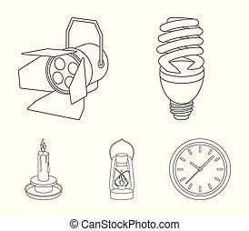 Economy lamp, searchlight, kerosene lamp, candle.Light...