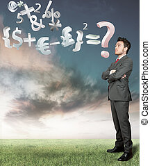 Economy problem - businessman reflects on the economy ...