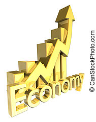 Economy - Statistics graphic in gold