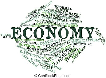 Economy - Abstract word cloud for Economy with related tags...
