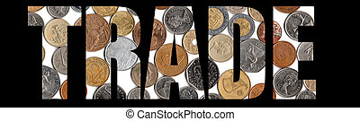 Economy Trade - International World Economy Block letters...