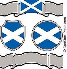 ecosse, bannières, drapeau