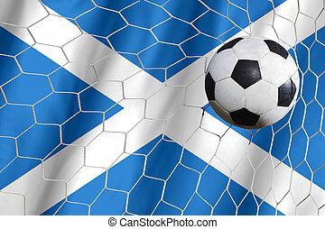 ecosse, symbole, balle, football