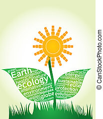 ecosystem complexity - abstract illustration with ecology ...