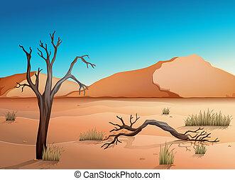 Ecosystem Desert - Illustration of a desert
