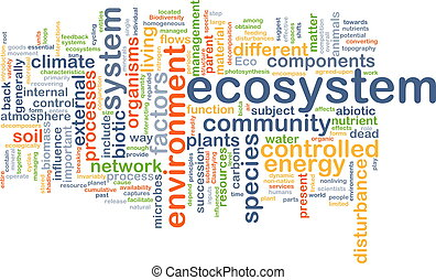 ecosystem wordcloud concept illustration