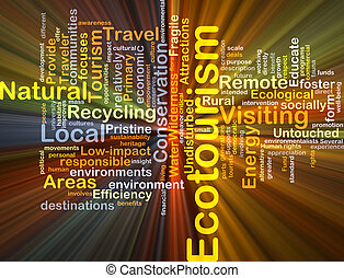 Ecotourism background concept glowing