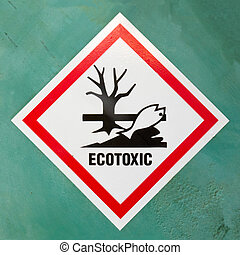 Ecotoxic hazard symbol warning sign