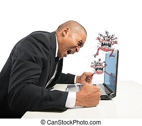 ecrasé, informatique