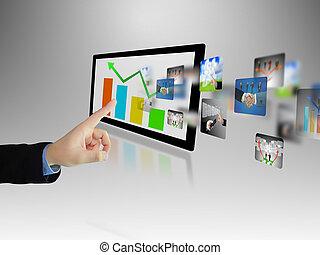 ecriture homme affaires, business, graphique