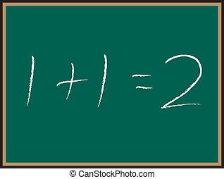 ecuación, pizarra, matemáticas