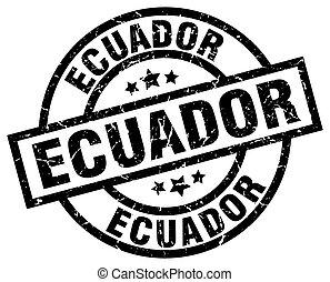 Ecuador black round grunge stamp