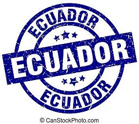 Ecuador blue round grunge stamp