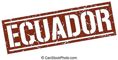 Ecuador brown square stamp