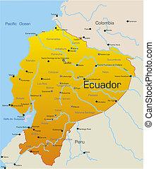 Ecuador country - Abstract vector color map of Ecuador...