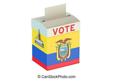 Ecuador election ballot box for collecting votes - Ecuador...