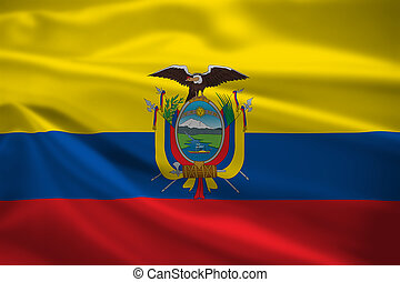 Ecuador flag blowing in the wind