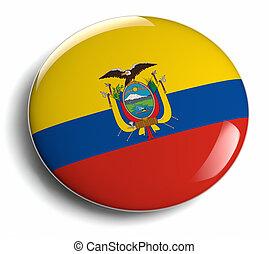 Ecuador flag design round badge.