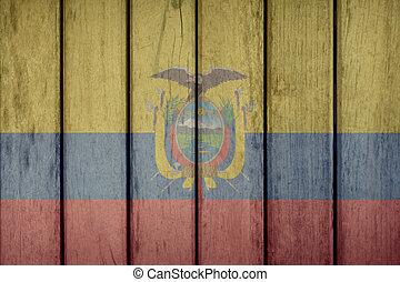 Ecuador Flag Wooden Fence