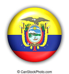 Ecuador Flag - World Flag Button Series - South America - ...