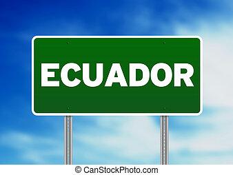 Ecuador Highway Sign