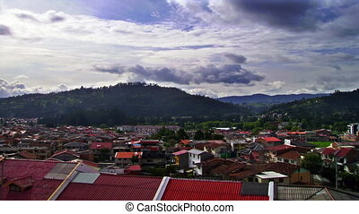 Ecuador Homes - High definition time lapse of the sky over...