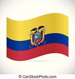 ecuador, ilustración, bandera