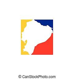 ecuador map logo icon vector symbol