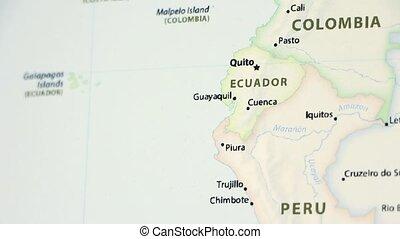 Ecuador on a Map