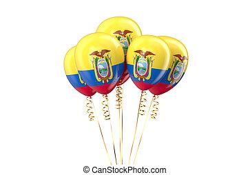 Ecuador patriotic balloons,  holyday concept